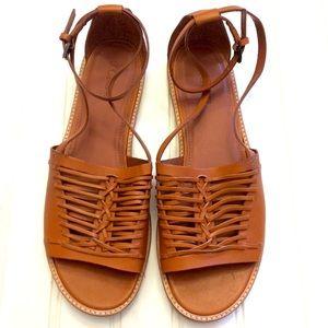 J. Crew huarache leather Vachetta sandals
